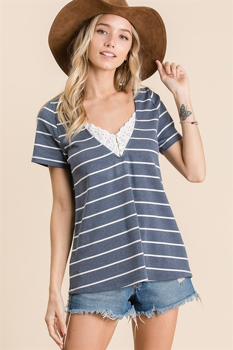 Picture of Livia Striped Top 🇺🇸